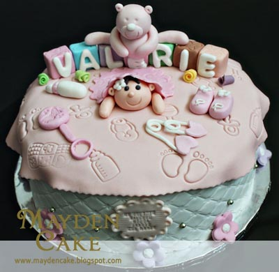 1 month old baby birthday cake