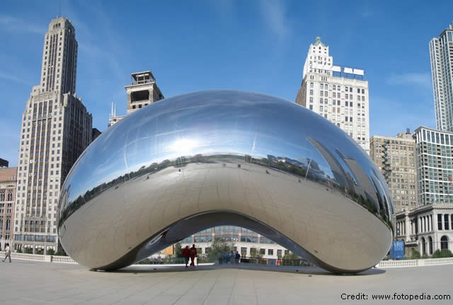 Cloud Gate, The Bean, Chicago, EUA