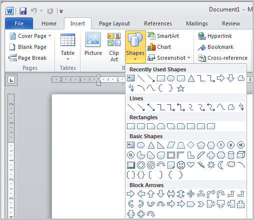 How To Draw An Apron In Ms Word Part 2 : Apps Directories