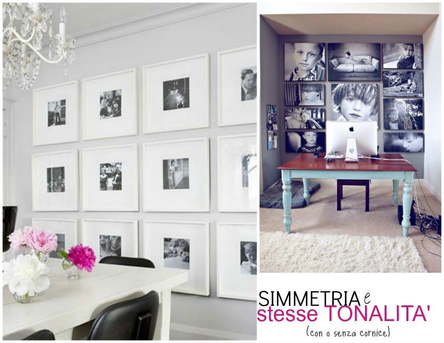 Una casasumisura per loro frame wall - Soggiorno bianco e nero ...