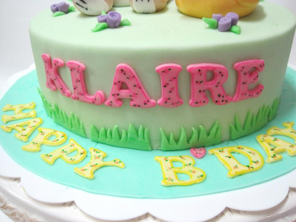 Mom And Daughter Cakes Pastel Colours On Children Birthday Cakes
