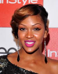 with bangs meagan good sew in weave short hairstyle with bangs