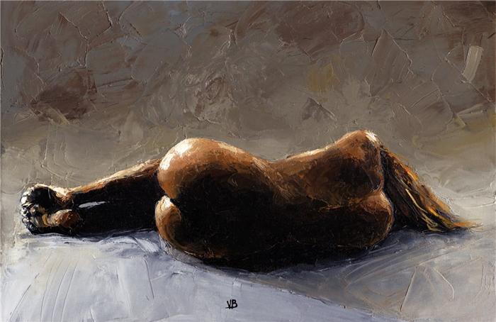 Victor Bauer 1969   American Figurative painter