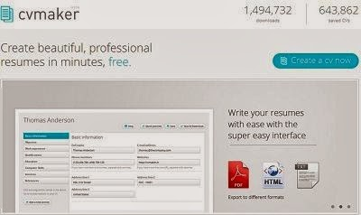 free cvmakeronline builder tool cvmaker allows you to make beautiful professional resumes