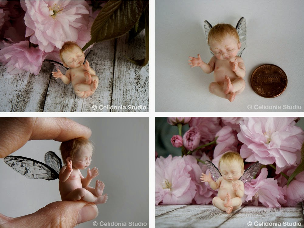 Miniature Baby Fairy by Celidonia