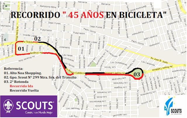 Ntra sra del transito gpo 0299 45 a os en bicicleta for Terrace 45 scout santiago