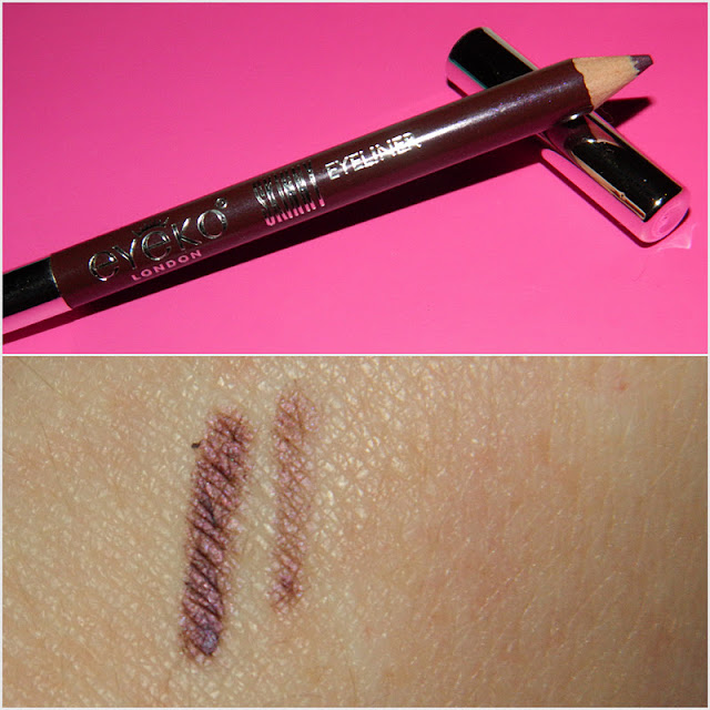 Eyeko London eyeliner in Plum product and swatches