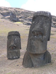 Famous Enlarged Tilted Head Moai, Rano Raraku Crater, Easter Island