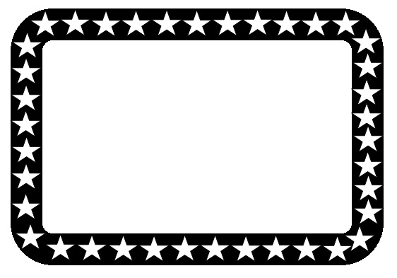 free black and white star frame