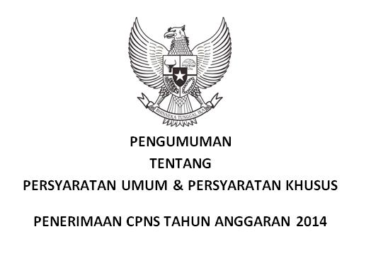 Persyaratan Umum dan Persyaratan Khusus CPNS 2014
