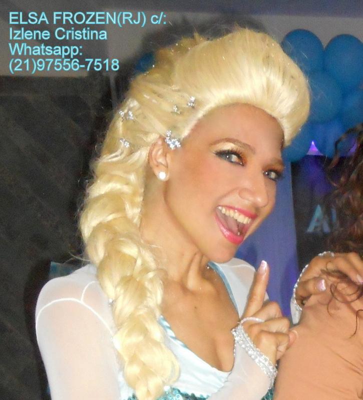 ELSA FROZEN (RJ) p/Eventos c/;IZLENE CRISTINA (21)99978-7025 ; Whatsapp:(21)97556-7518