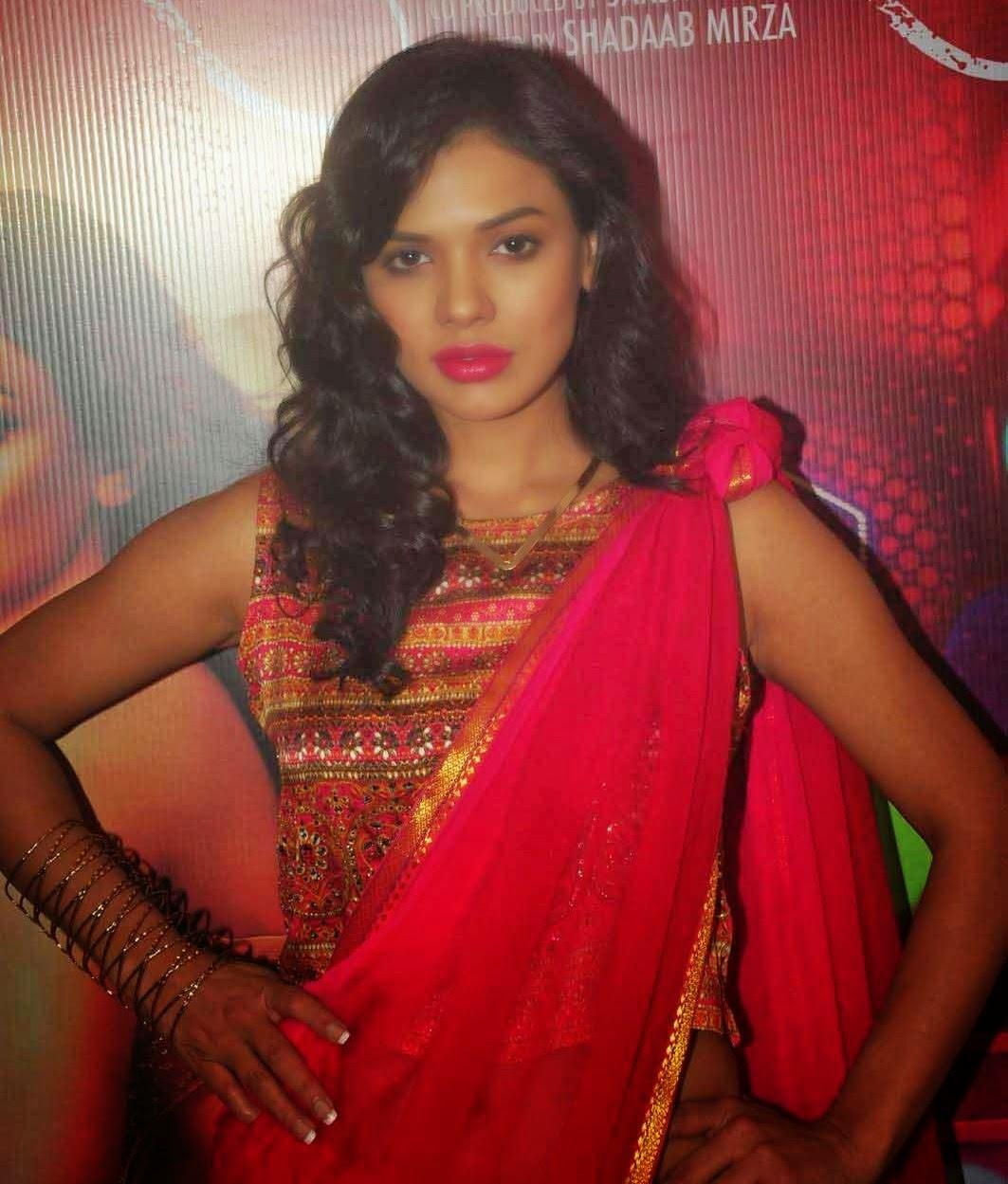 actress sara loren latest saree stills from barkhaa hindi movie