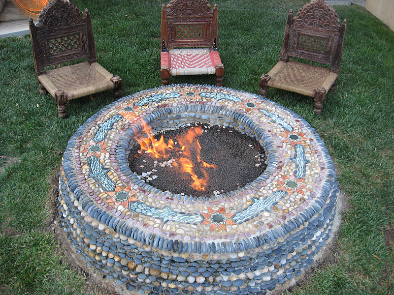Mosaic Tile Fire Pit Part - 15: A Elegant Fire Pit For Roasting Marshmallows
