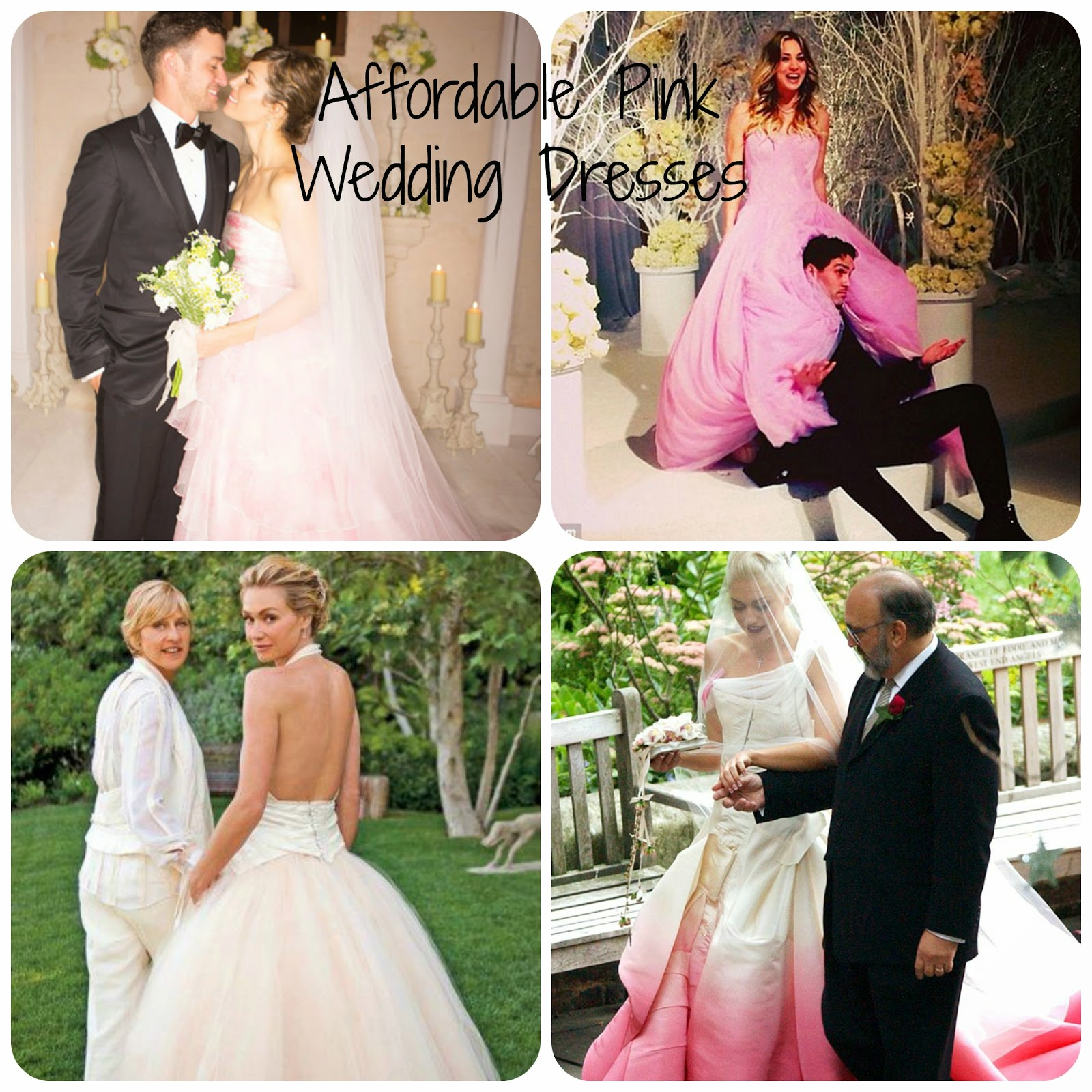 Affordable Pink Wedding Dresses - Celebrities