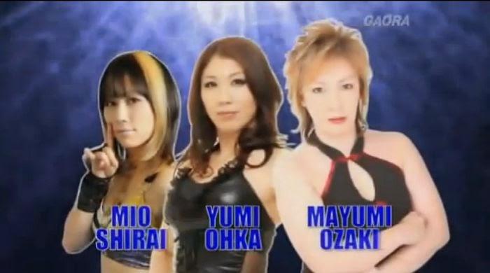 Mio Shirai, Yumi Ohka and Mayumi Ozaki