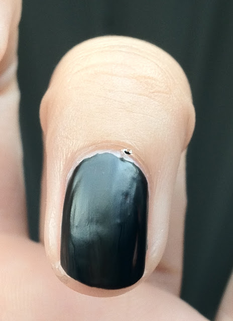 eyes lips face, elf make up, E.L.F., matte nail polish, matte nail art, mattifying top coat, black matte nail art, matte french manicure, black manicure, black french manicure, elf nail polish, target, elf facebook page