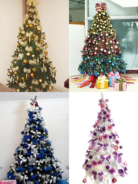 decoracao arvore de natal azul: as que possuem coresem prata, dourado, azul, branco, vermelho ou roxo