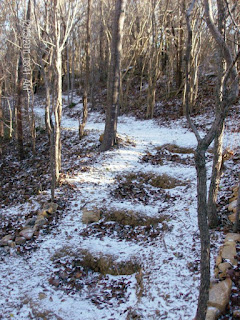 Nature Trail Sprinkled with Snow