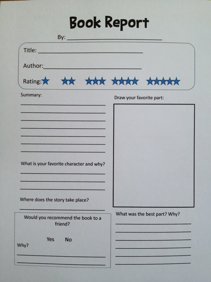 what is a book report setting