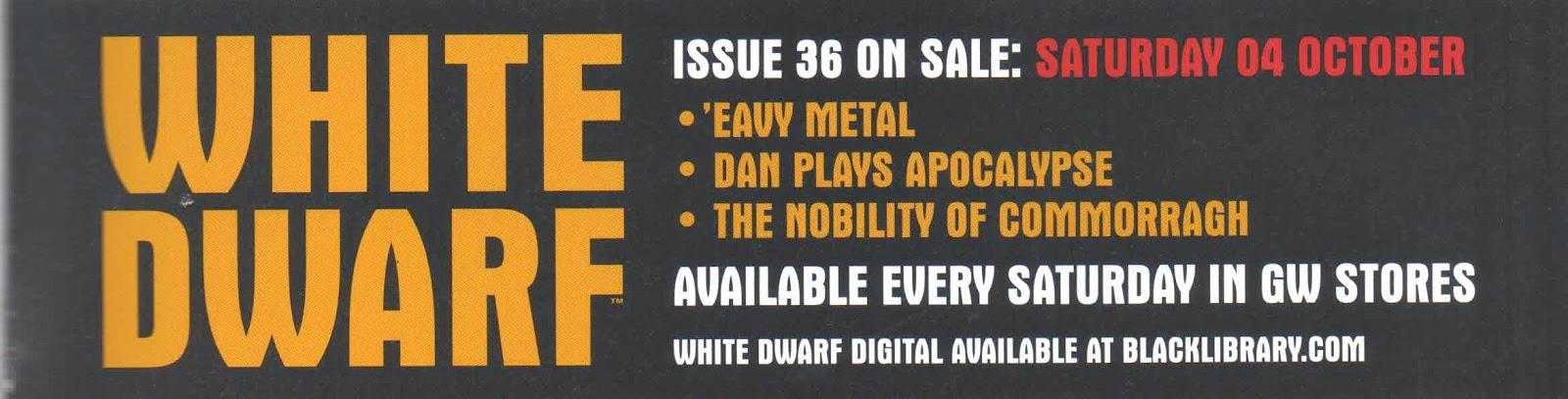 Adelanto de la White Dwarf Weekly número 36