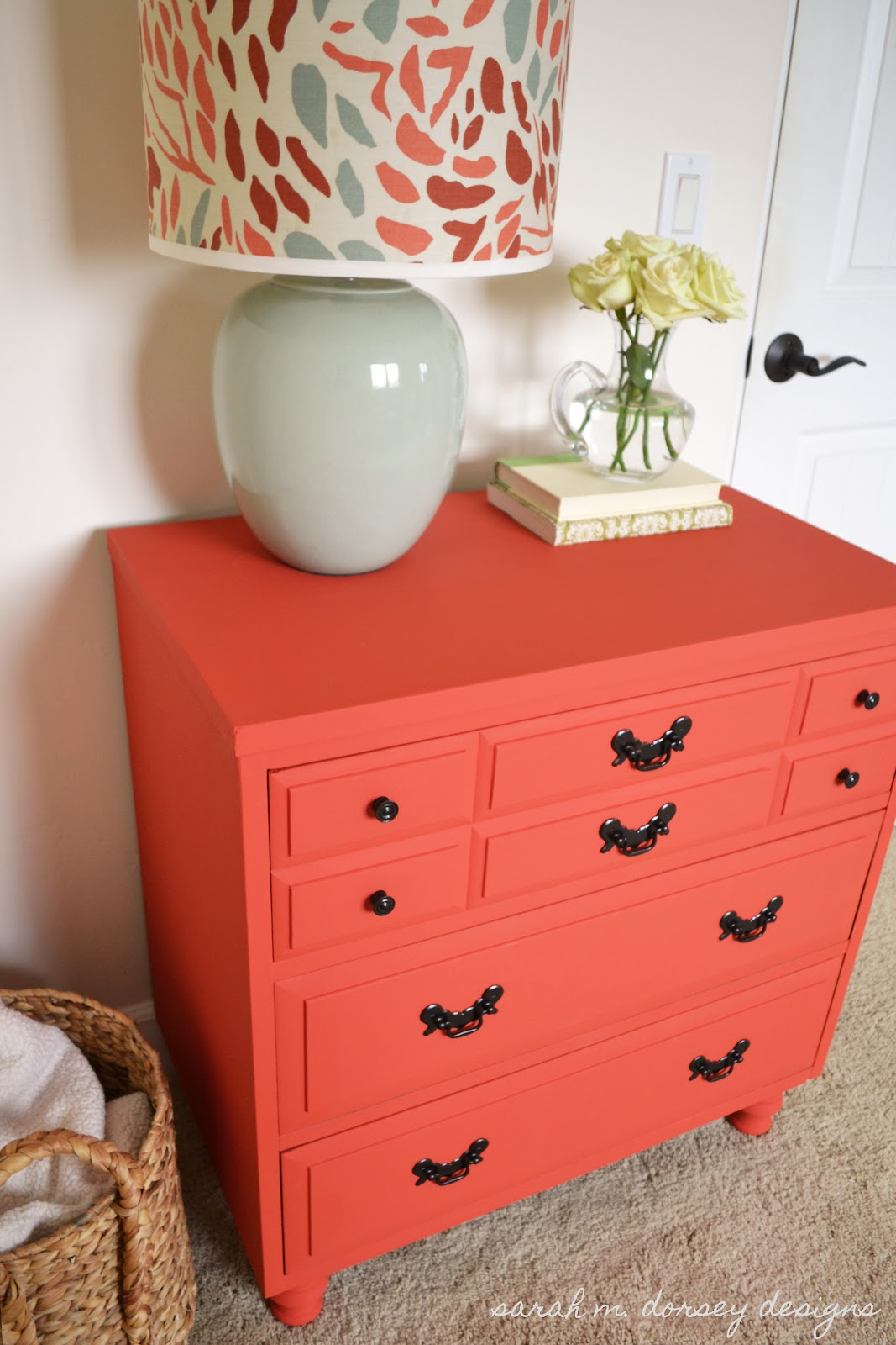 sarah m dorsey designs coral dresser for the guest bedroom