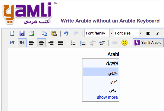 arabic keyboard learn type