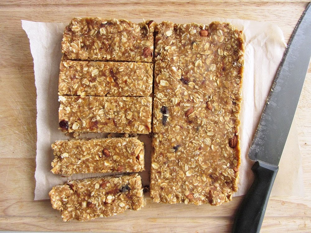 No-Bake Peanut Butter Lentil Granola Bars | Once Upon a Cutting Board