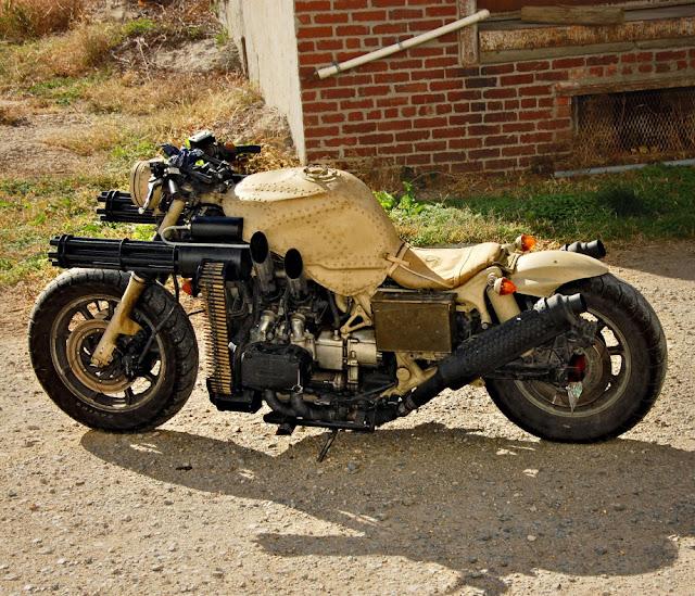 Honda Goldwing Gatling gun motorcycle |  Military motorcycles | Military motorcycles for sale