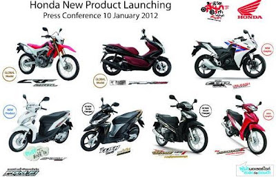 AP HondaThailand release injection 7 models motor-product