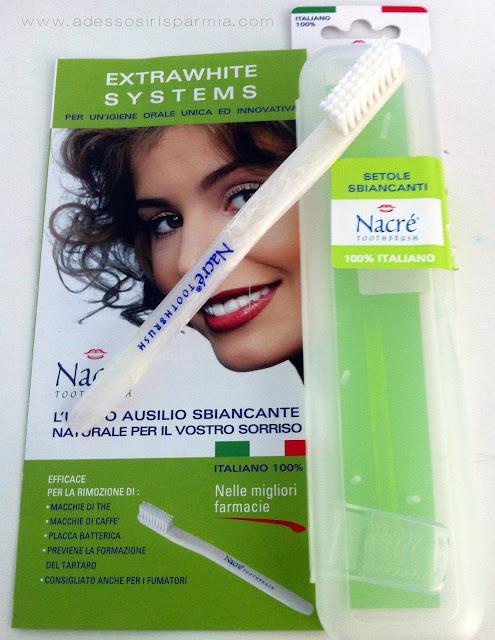 nacré toothbrush: l'unico ausilio sbiancante naturale per il vostro sorriso