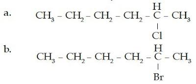 2-kloroheksana 3-bromoheksana