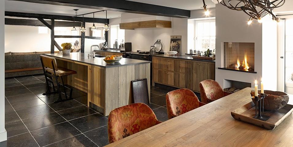 Encantadoras cocinas para casas de campo cocinas con estilo - Cocinas rusticas de campo ...