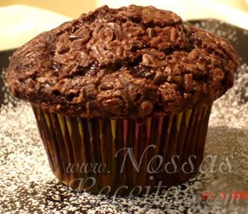 receita deliciosa de cupcake fofinho com chocolate
