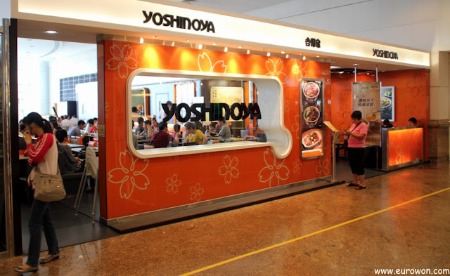 Restaurante Yoshinoya en Hong Kong