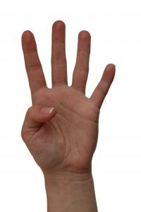 Counting Woman Hands Showing Four Fingers,number 4 Stock Photo ...