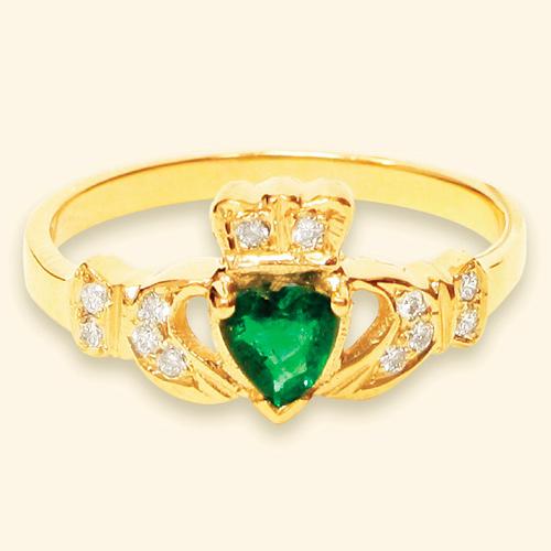 Claddagh Wedding Band 39 Elegant Emerald my birthstone u