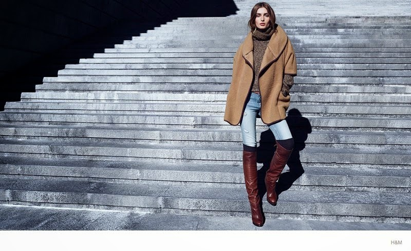 H&M Winter 2014 Style Trends Lookbook starring Andreea Diaconu