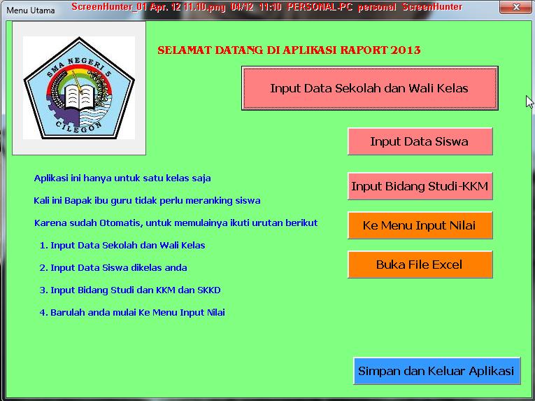 Contoh Raport Kelas 7 8 9 Mts Sunan Giri Mts Sunan Giri