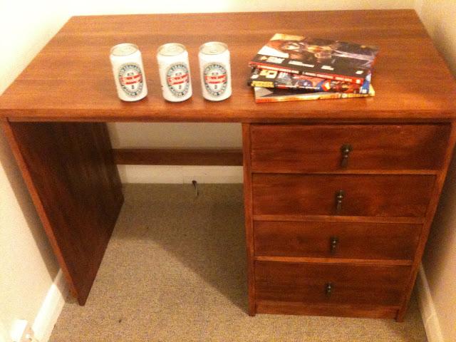 old desk restored