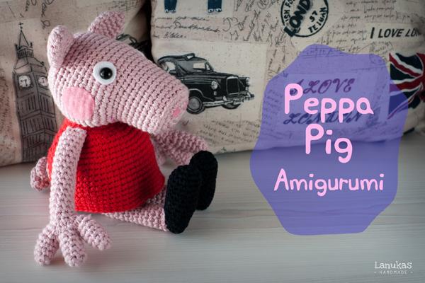 Patron Amigurumi Peppa Pig Grande : Peppa Pig de Amigurumi