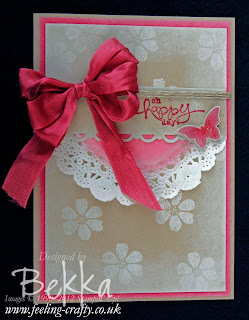Bloomin' Marvelous Bow Card by Stampin' Up! Demonstrator Bekka Prideaux - check her blog to see how you can get these stamps free until 22 March 2013