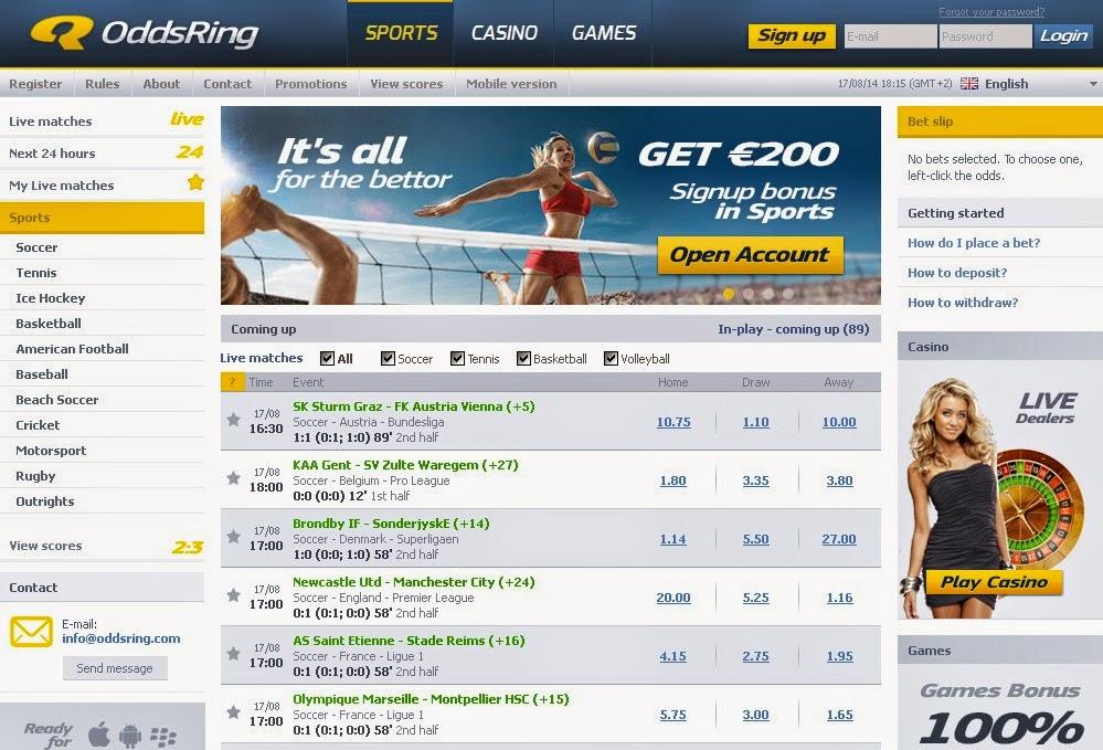OddsRing Sportsbook