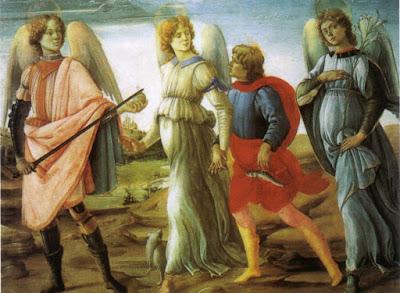 Филиппо Липпи. Тобиас и три архангела.