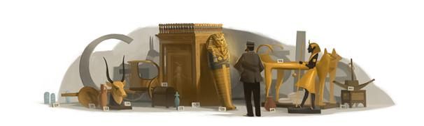 Howard Carter Google Doodle - Tutankhamun Tomb Discoverer