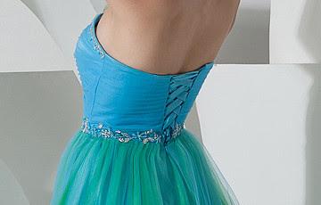 Romantique sweetheart robe de bal bleu