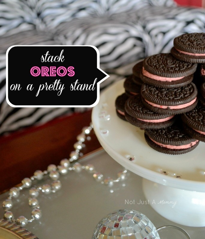 bling baby shower table oreos