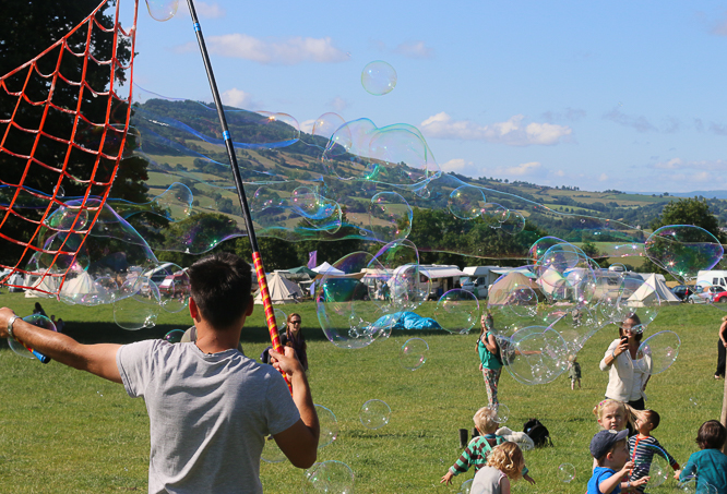 Bubbles at Starry Skies festival in Wales