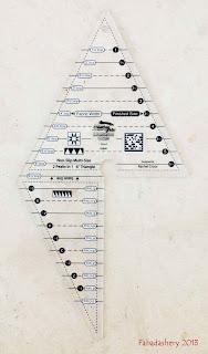 Creative Grids Non-Slip 2 Peaks in 1 Ruler