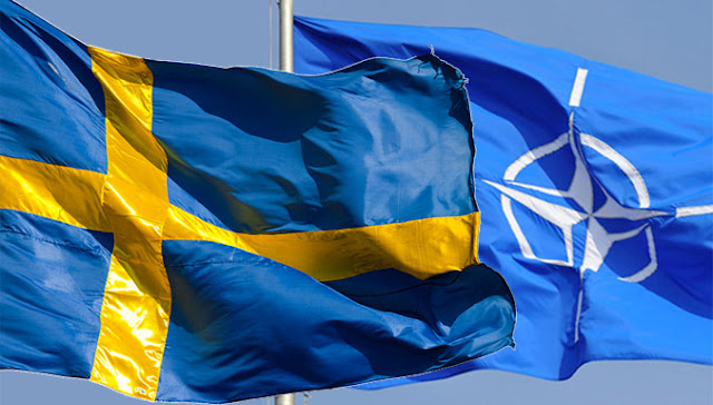 Swedish- and NATO flag