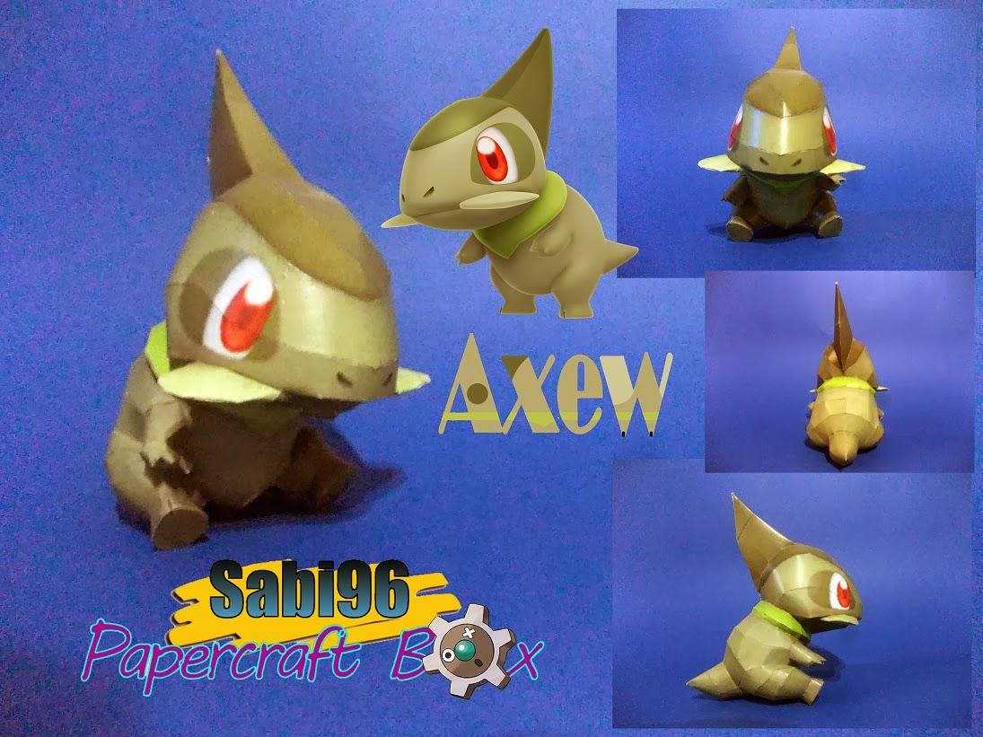 Axew Paper Model